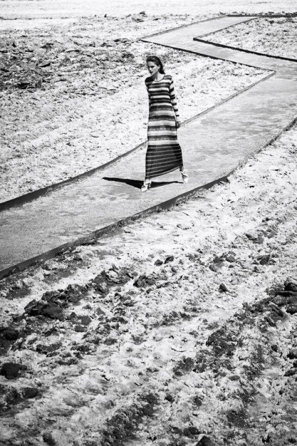 knitGrandeur: The Striped Floor Length Dress