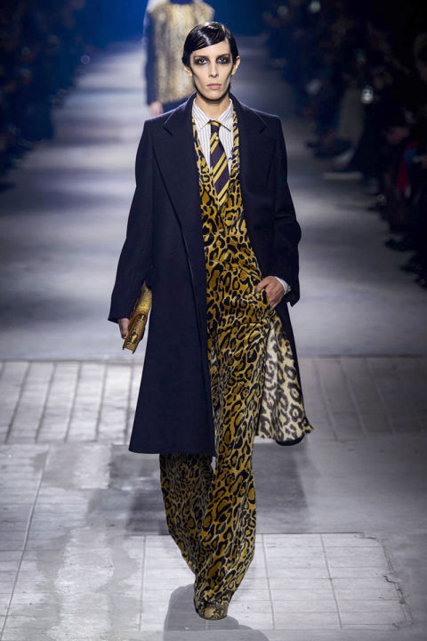 Animal print suit by Dries van Noten
