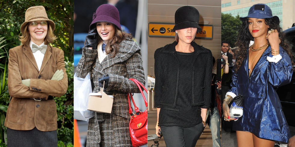 Fall's answer to the fisherman's hat, a woolen cloche or knit bucket can be both casual or elegant, depending on what you wear it with.