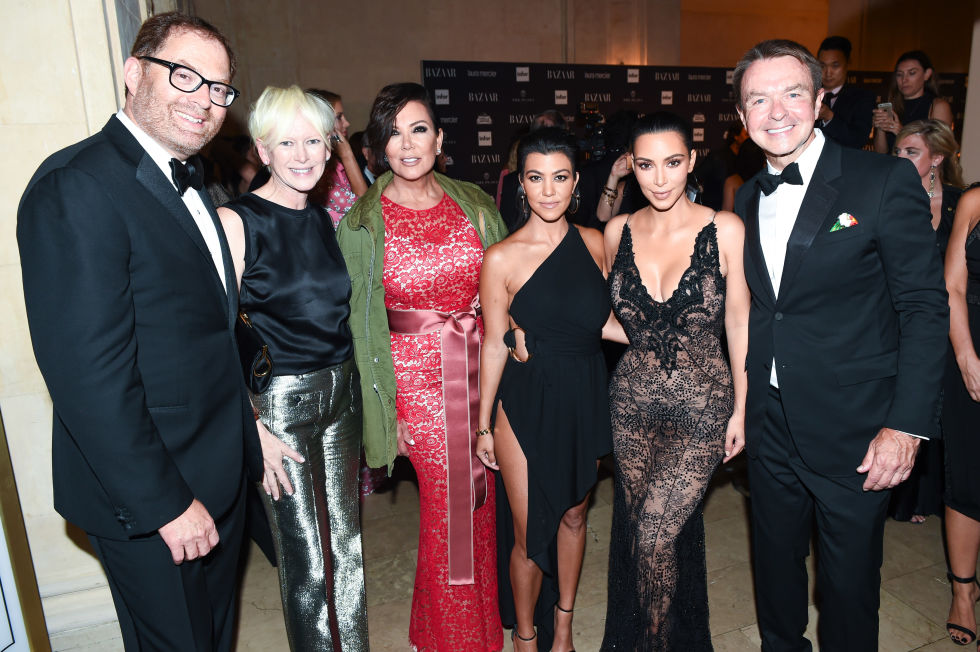 David Carey, Joanna Coles, Kris Jenner, Kourtney Kardashian, Kim Kardashian West and Michael Clinton