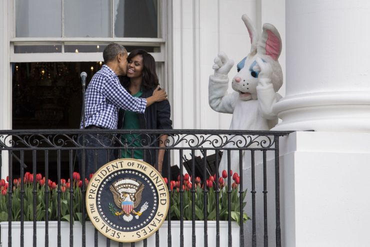 At the Easter Egg Roll at the White House, March 2016.
