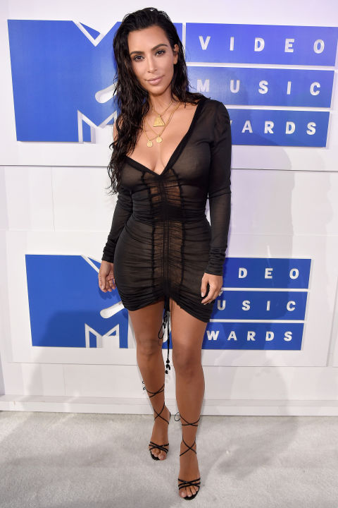 Kim Kardashian is a long-term fan of the barely there dress, as demonstrated this year when she wore a vintage John Galliano sheer mini to the MTV VMAs.