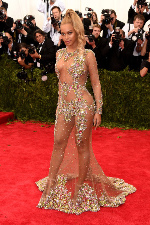 Beyoncé proudly asserted her sexuality in a sequined sheer dress by Givenchy at the 2015 Met Ball. However, the gown reportedly wasn't her first choice – on the way to the event, she apparently saw what other guests were wearing and decided to scrap the red dress she had chosen and made her driver turn back so she could wear the Givenchy number instead.