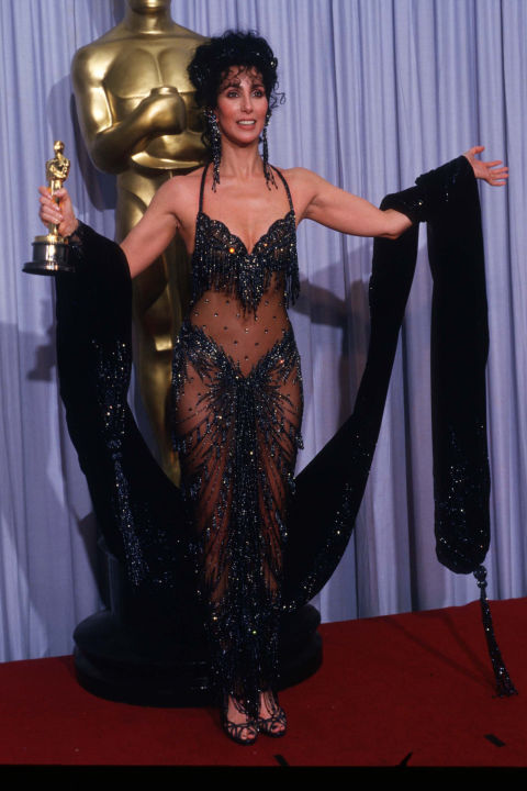 Paving the way for sheer dresses around the world was Cher with her 1988 Oscars dress. Designed by Bob Mackie, the ensemble broke red-carpet boundaries forever.