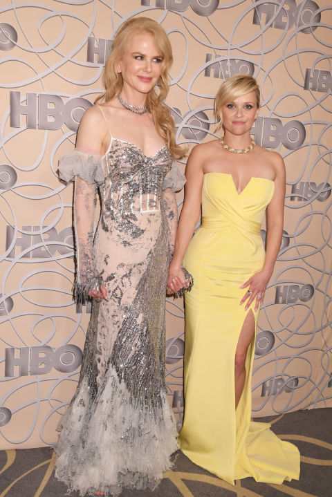Nicole Kidman in Alexander McQueen and Reese Witherspoon in Atelier Versace