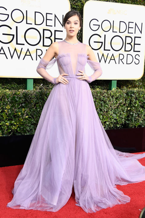 "Hailee Steinfeld's custom Vera Wang look for the 2017 Golden Globes felt demure for the red carpet (and for her new rockstar persona)–but down the aisle, this pop of color would feel undoubtedly fresh and fashion-forward. Good news is, this silhouette is straight from the designer's Fall 2017 bridal range. Get the Look: Vera Wang Bride ""Felisa"" gown, price upon request, verawang.com."