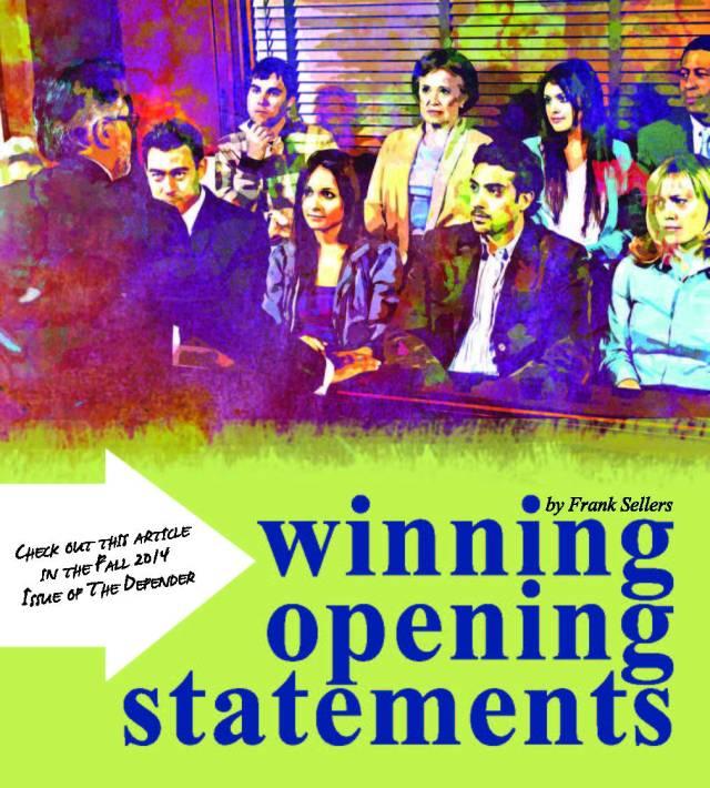 Winning Opening Statement