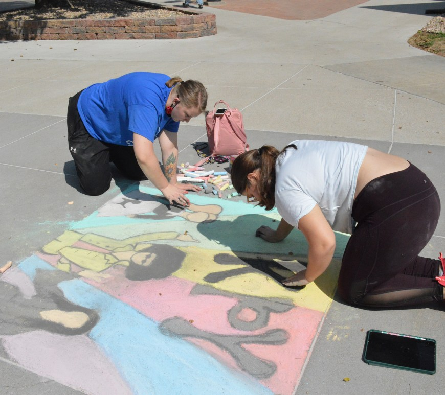 KPY sorority brings bright vibes to campus with the Chalk Walk.