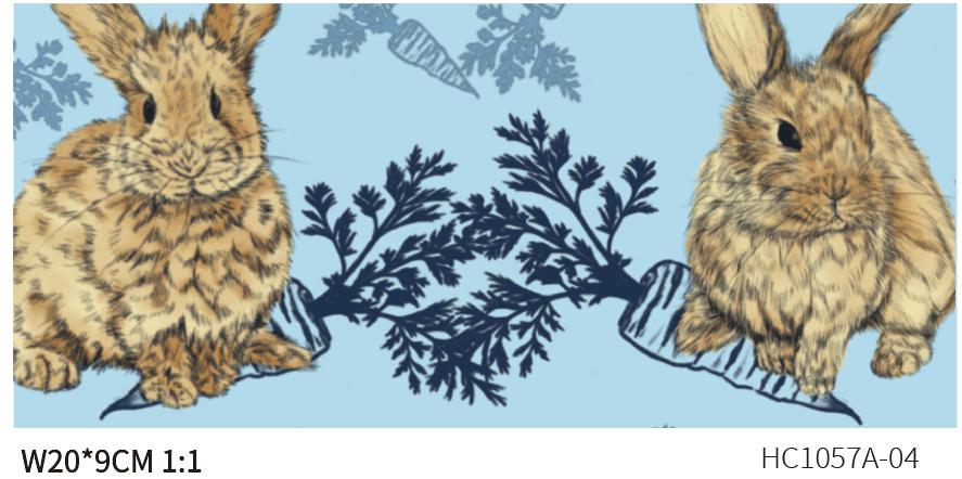 DIGI-PRINT CUSHION-HC1057 rabbits