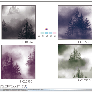 DIGI-PRINT CUSHION-HC1058 smog forest