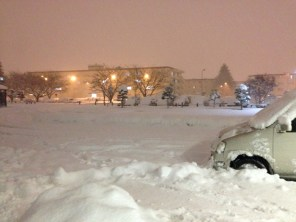 a foot of snow