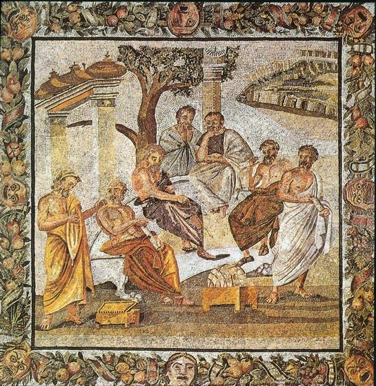 Platon Academia-mosaico-sIIaC-napoles-museo-arqueologico