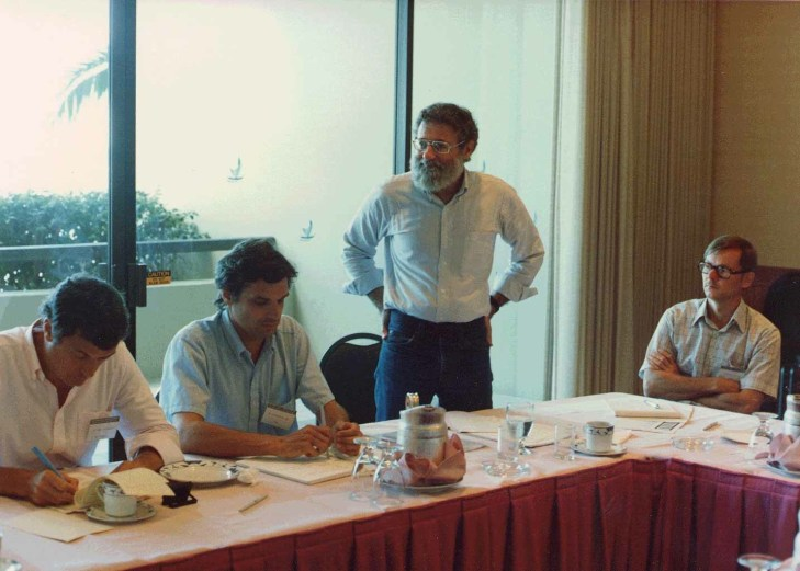 Norman at the HCI International Conference in August 1987.