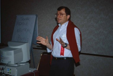 Van Dam at the ACM CHI Conference on Human Factors in Computing Systems in Boston, MA in 1994.
