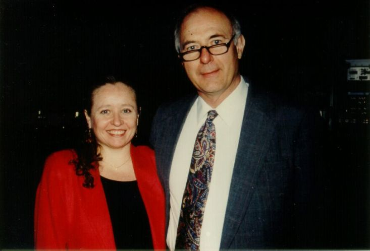 Kellogg with Tom Hewett at the ACM CHI Conference on Human Factors in Computing Systems in Atlanta, GA in March 1997.