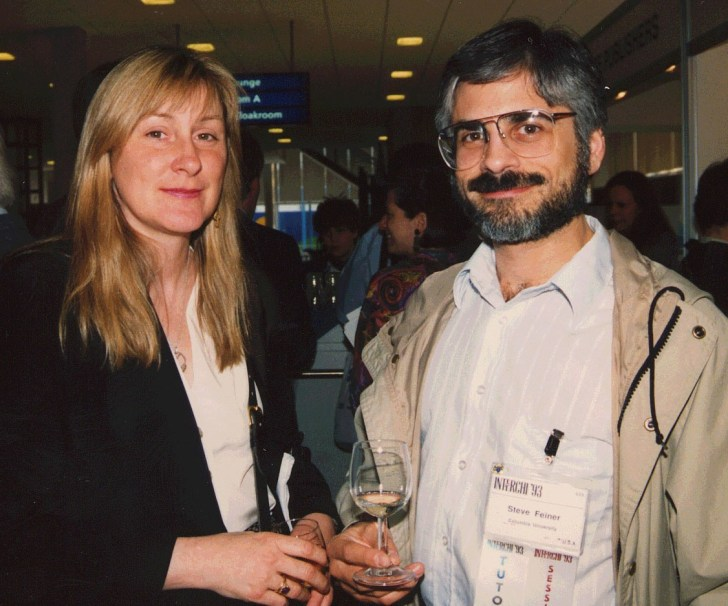 Feiner and Thea Turner at INTERCHI, Amsterdam, The Netherlands, April 24-29, 1993.