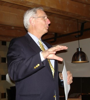 Foley speaking at the ACM CHI Conference on Human Factors in Computing Systems in Portland, OR on April 5, 2005.