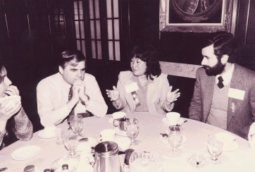 Lewis with Barbara Isa at the ACM CHI Conference on Human Factors in Computing Systems in Boston, MA in December 1983.