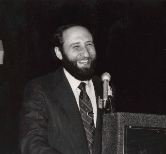 Ben Shneiderman at the ACM CHI Conference on Human Factors in Computing Systems in Toronto, Canada in April 1986.