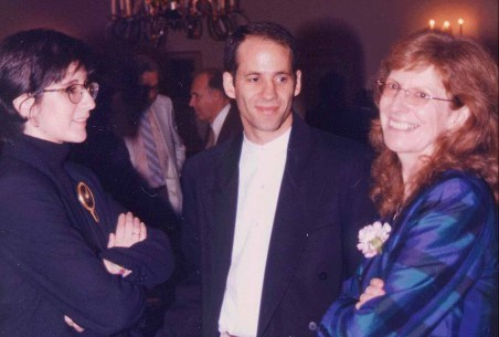 Allison Druin, Bederson, and Jenny Preece at a University of Maryland event in 2000.