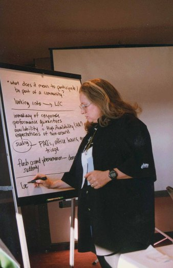 Kellogg at the ACM CHI Conference on Human Factors in Computing Systems in Atlanta, GA in March 1997.