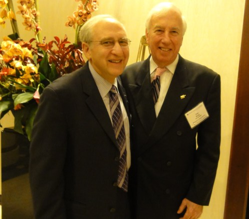 Ben Shneiderman and Dan Mote (President of the National Academy of Engineering) in Washington, DC in October 2010.