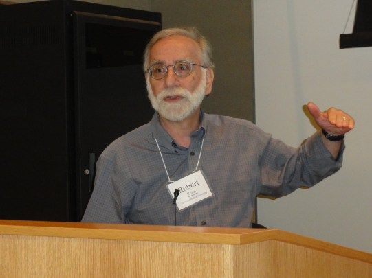 Kraut speaking at the National Science Foundation workshop on Social Computing at the University of Minnesota on June 11, 2011.