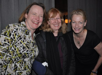 Elizabeth Mynatt, Jenny Preece, and Elizabeth Churchill at the ACM CHI Conference on Human Factors in Computing Systems in Toronto, Ontario, Canada in April 2014.