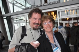 Plaisant and Jean-Daniel Fekete at the ACM CHI Conference on Human Factors in Computing Systems in May 2011 in Vancouver, BC Canada.