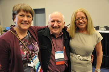 Mary Beth Rosson, Alan Newell, and Kellogg at CHI 2011 in Vancouver, BC Canada, in May 2011.