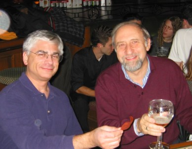 Feiner and Ben Shneiderman at the ACM Symposium on User Interface Software and Technology (UIST) in Vancouver, BC, Canada on November 2, 2003.