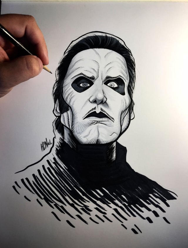 Cardinal Copia Ghost Band Art
