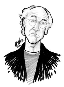 custom caricature sample larry david