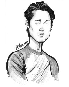 Walking Dead Art Print Glenn