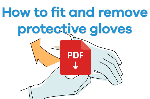 How to fit and remove protective gloves