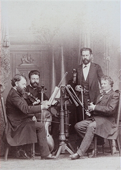 Earliest photo of the Quartet with de Ahna