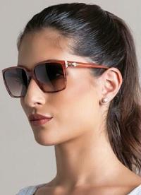 Óculos de Sol feminino Ana Hickmann Ah9107-T02 Marrom