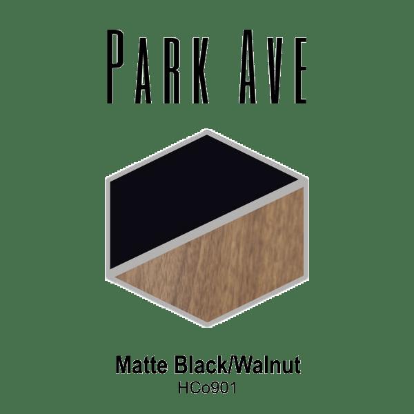 Park Ave Matte Black Walnut