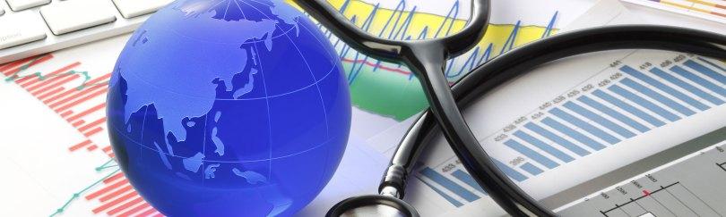 Image of globe and stethoscope