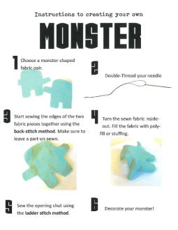 Instructions to creating your own monster