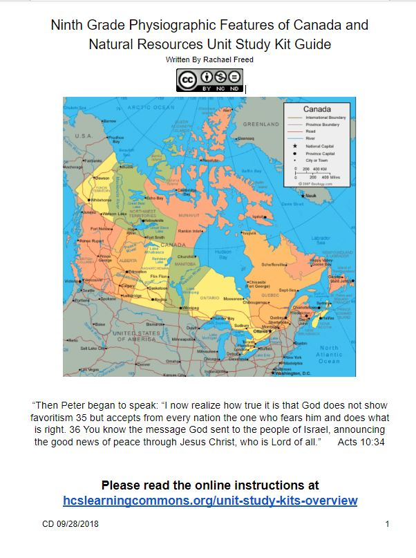 Map Of Canada Grade 9.Grade 9 Physiographic Features Of Canada And Geological Processes