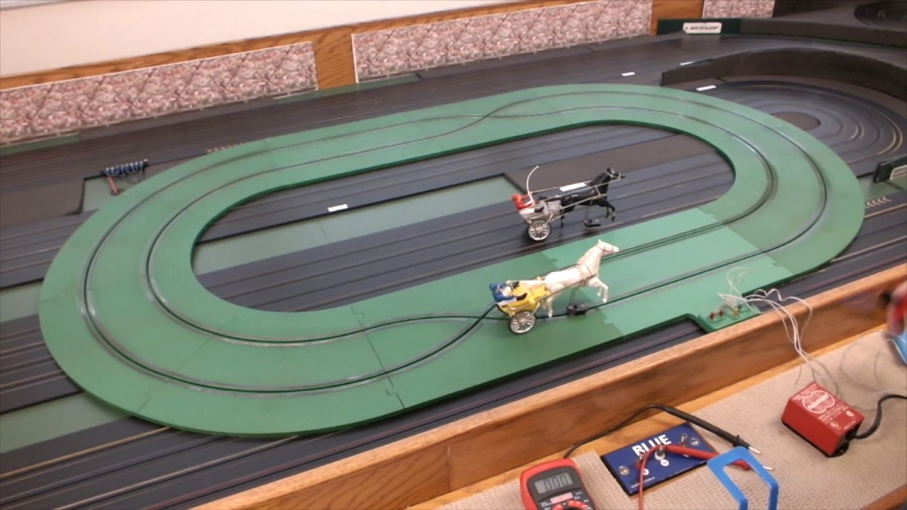 Paramounts Horse Sulky Racing Set Track Review Hc Slots Ho Slot Car Power Wiring