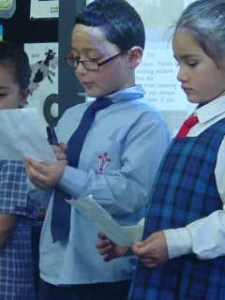 As we read our prayers we use expression to show the meaning of the reading.