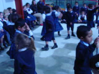 Mrs Roberts has taught Room 1 how to do the Circassian Dance.