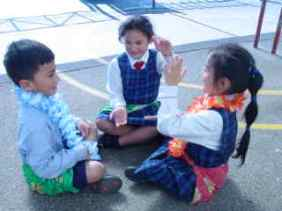 We can clap and sing in our lavalava.