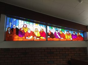 The Last Supper in stained glass