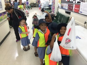 We are carrying our shopping