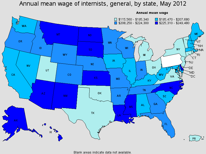 Internist Salary State By State
