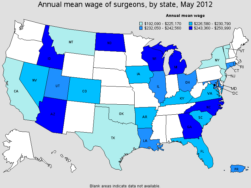 general surgeon salary state by state