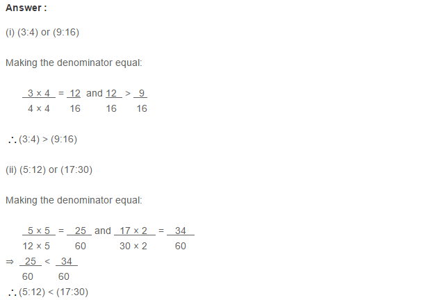 Ratio Proportion And Unitary Method Rs Aggarwal Class 6